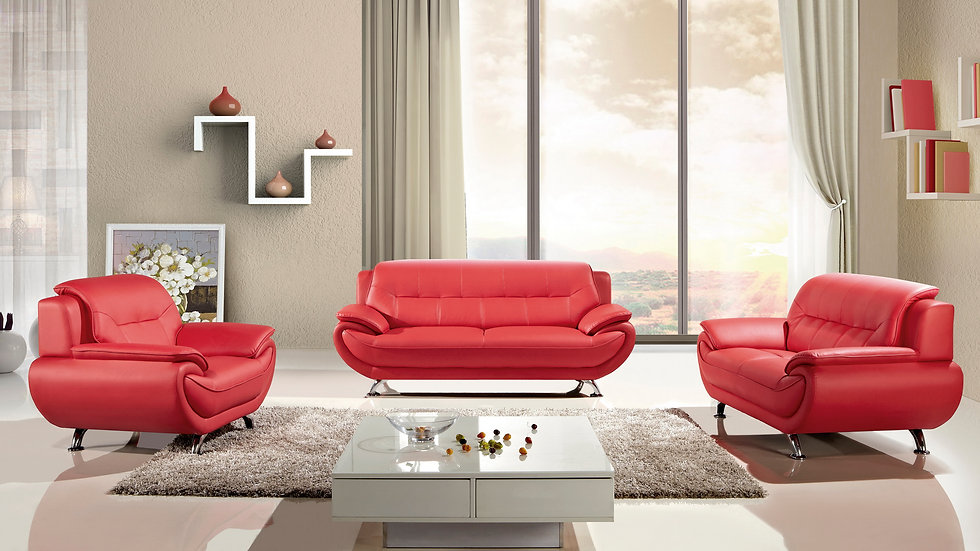 Keyse Red Sofa Set