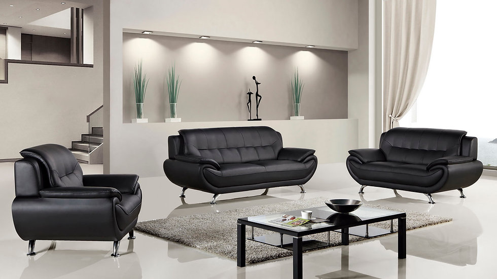 Keyse Black Sofa Set