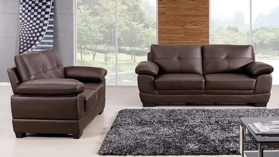 Dartmouth Genuine Leather Sofa Set