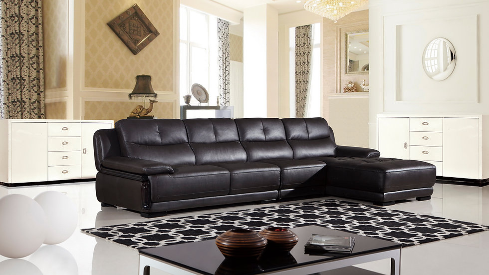 Monte Negro Leather Sectional