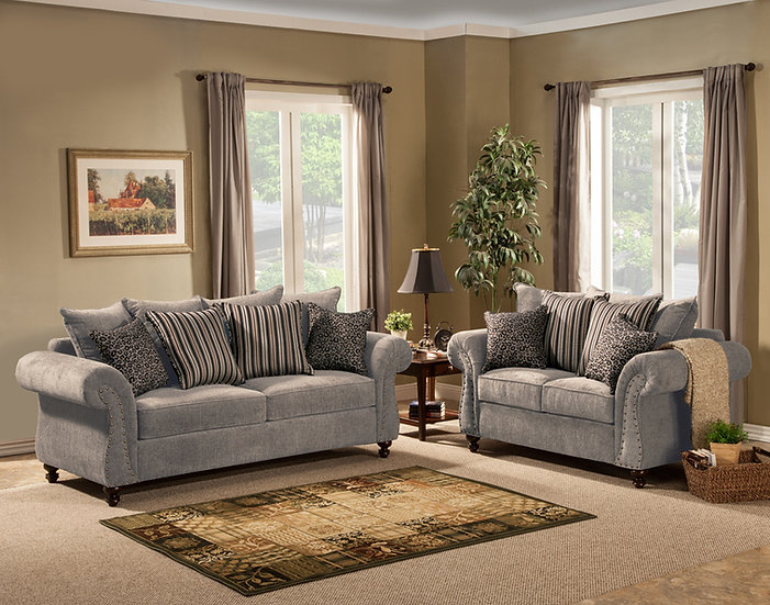 Holmes II Fabric Sofa Set