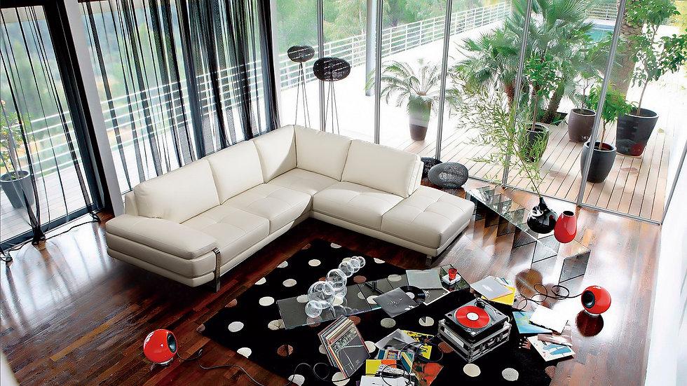 Strada II Leather Sectional