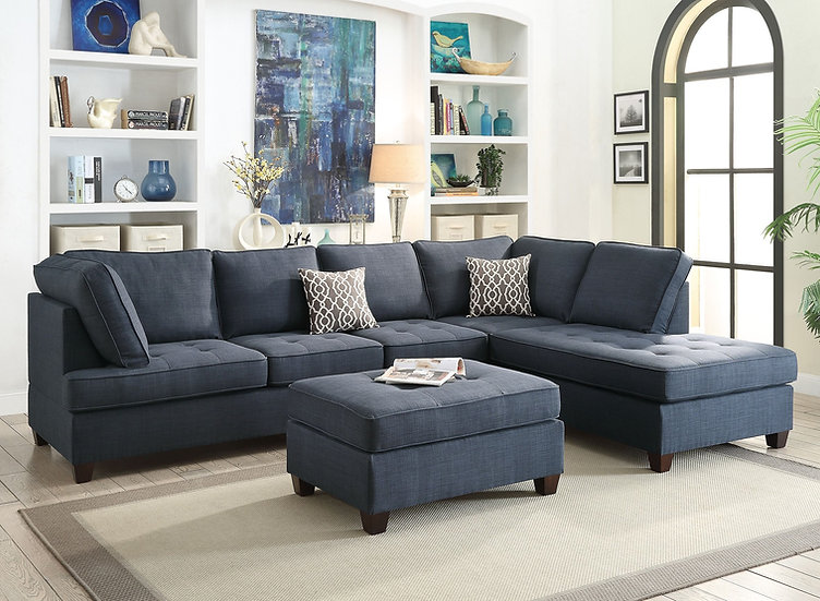 Sectional Blue