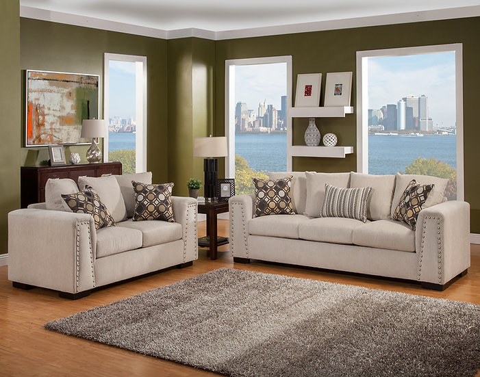 BLVD III Fabric Sofa Set