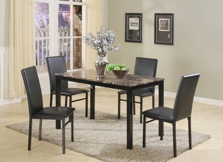 5-PC Roma Brown Dining Room Set