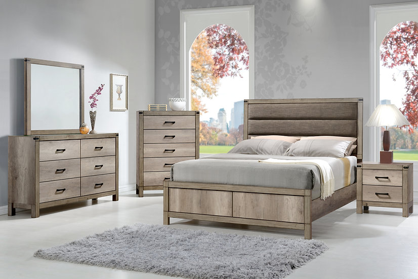 Dakota Ash King Bedroom Set