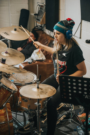 12 Hour Drumathon Fundraiser for Dan Wild-Beesley, Playing Aloud, Lincoln, Nov 2017.