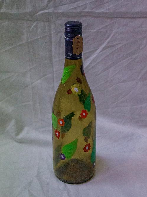 Small Flowers Wine Bottle