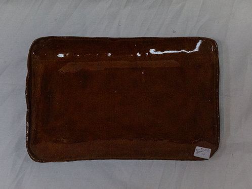 Brown Serving Plate
