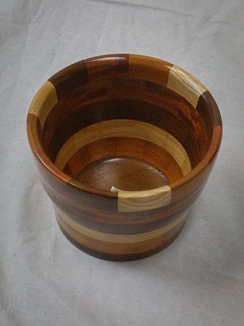Deep Segmented Wood Bowl