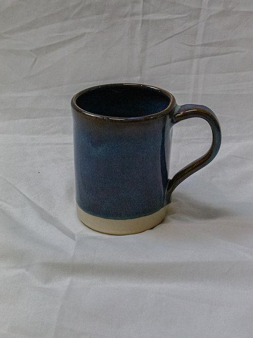 Large Blue Mug with White Base