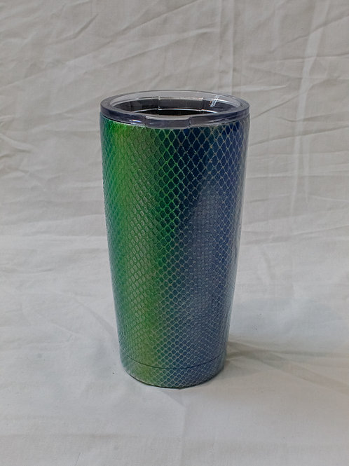 Blue and Green Scales Tumbler
