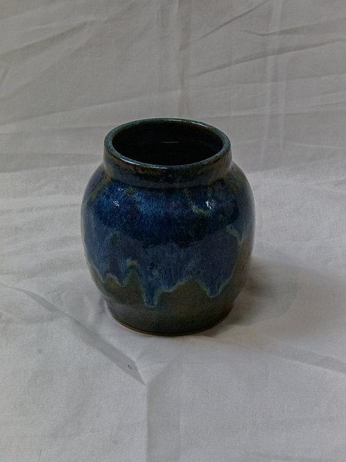 Blue Drip Jar