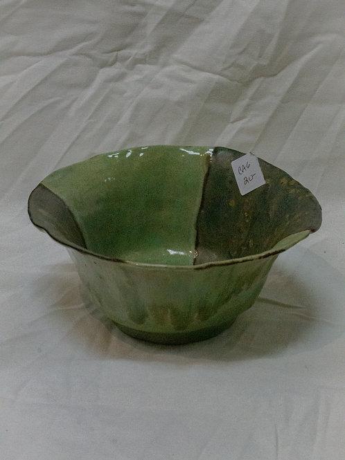 Two-Tone Green Bowl
