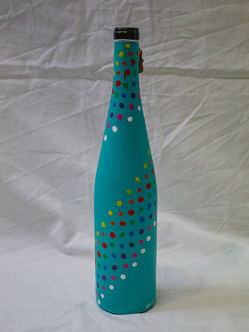 Colorful Dots Wine Bottle