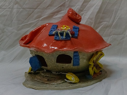 Red Roofed Fairy House
