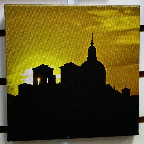 Building Silhouette Canvas
