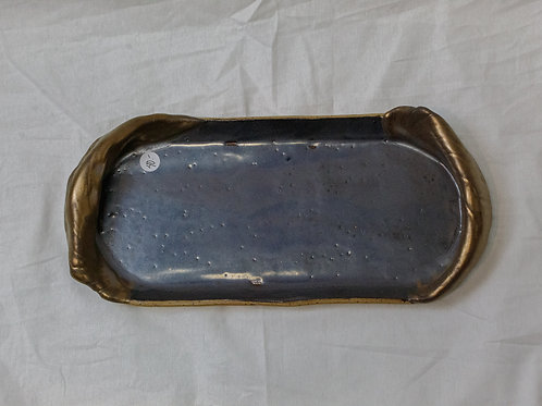 Blue and Gold Tray