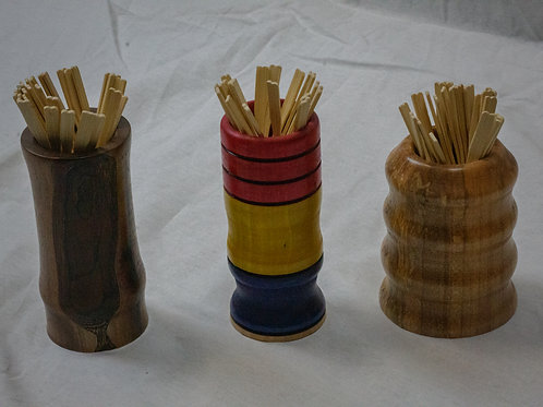 Wooden Cocktail Stick Holders