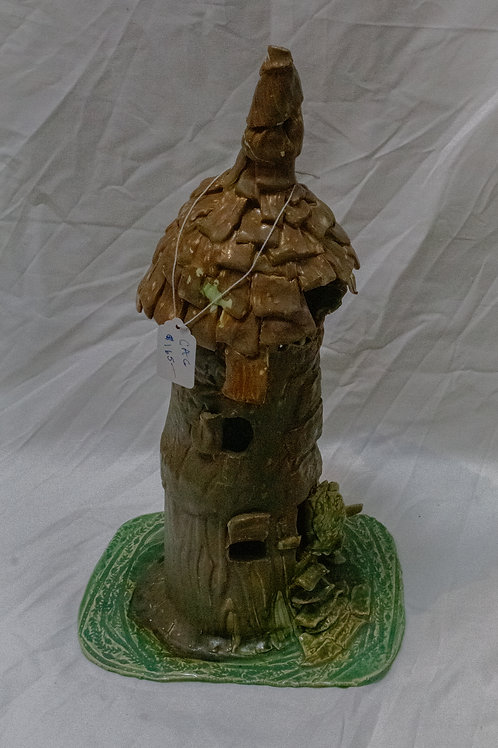 Fairy House with Thatched Roof