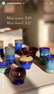 mini vases Exhibit B Gallery