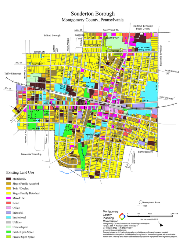 Souderon Land Use Map