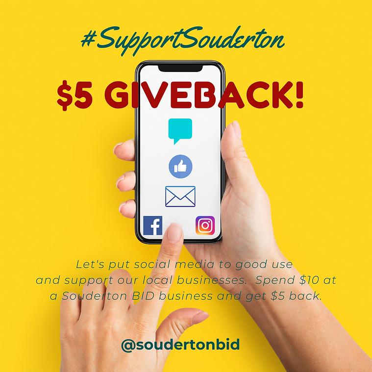 $5 Giveback Souderton BID.png