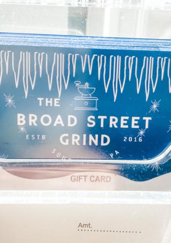 Broad Street Grind gift cards