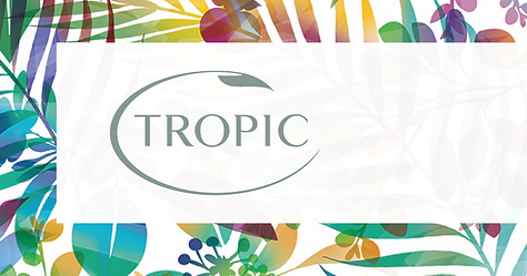 tropic background with text banner_edite
