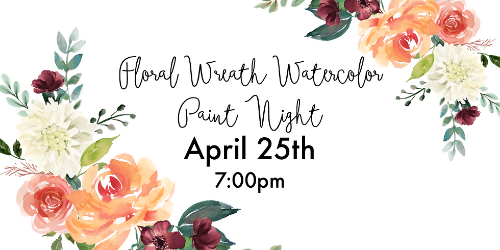 Floral Wreath - Watercolor Paint Night (1)
