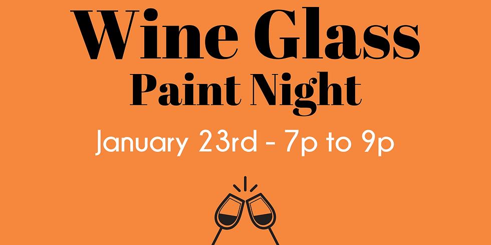 Wine Glass Paint Night