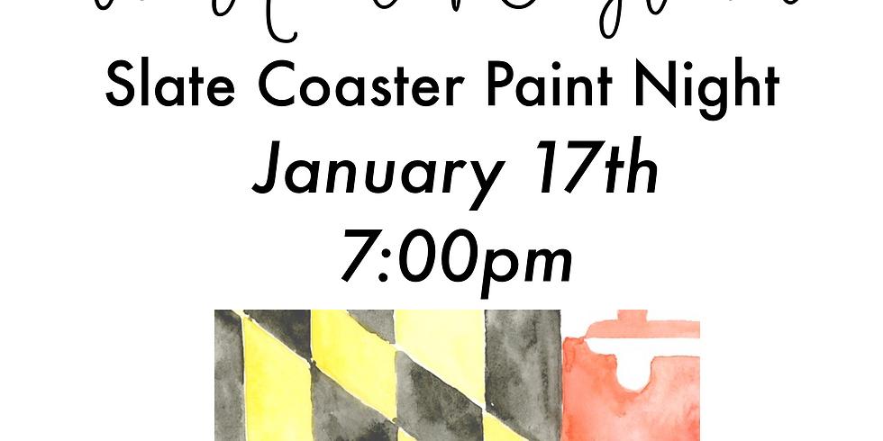 We Heart Maryland - Slate Coaster Paint Night
