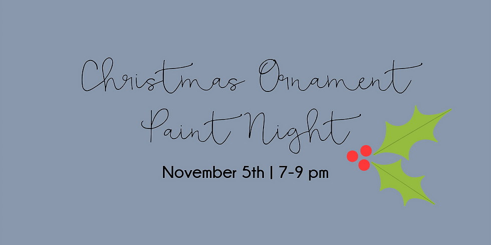 Ornament Paint Night with Anna Smith