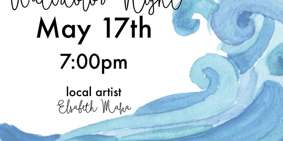 Beachy Keen - Watercolor Night