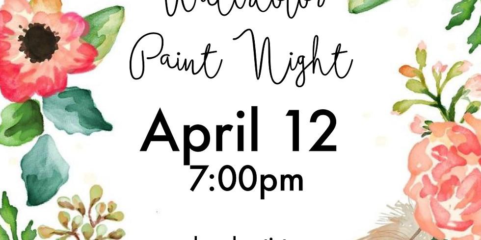 Spring Floral - Watercolor Night