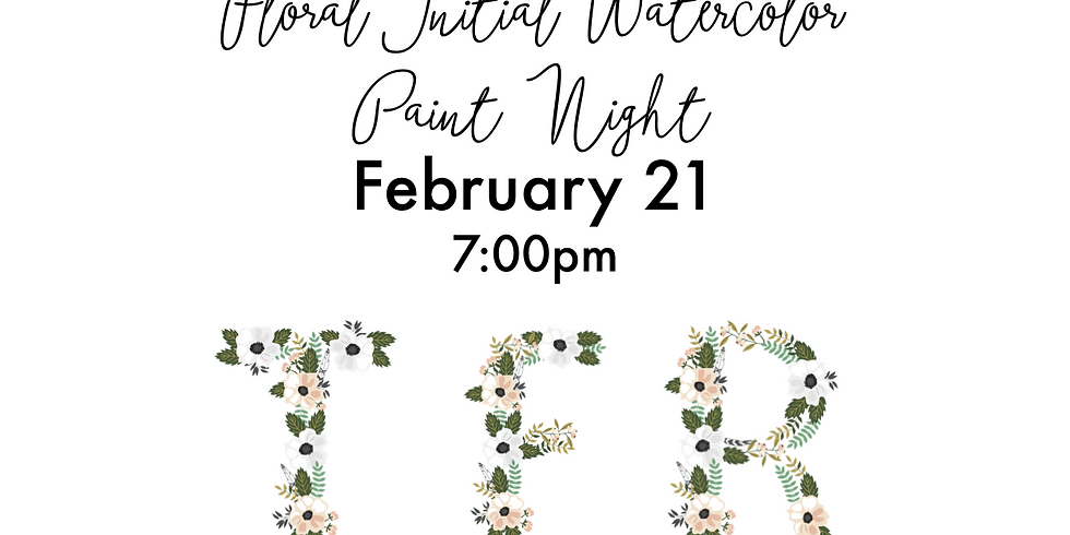 Spring Floral Initial - Watercolor Paint Night (1)