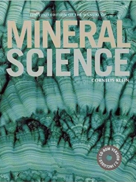Manual of Mineral Science 22nd Edition
