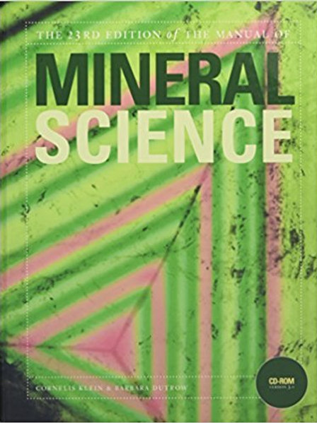 Manual of Mineral Science 23rd Edition