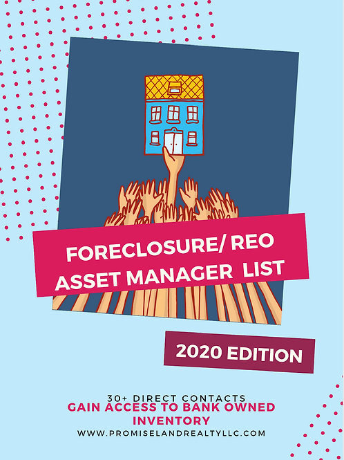 REO Asset Manager/Foreclosure Source List