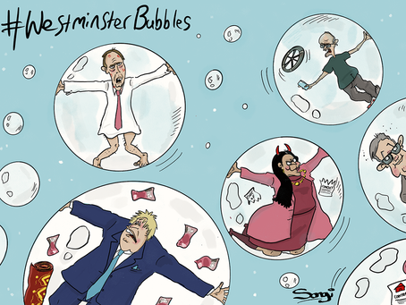 I'm forever blowing Westminster bubbles!