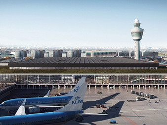 New terminal at Amsterdam Airport Schiphol designed as an atmospheric and light-filled space