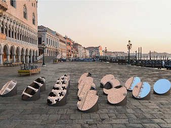 the AZIMUT moving art installation offers a fragmented view of venice's architecture