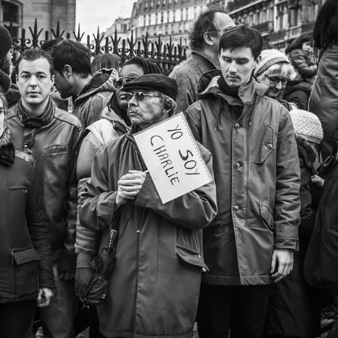 Reportage : marche républicaine, Paris. 11 janvier 2015.