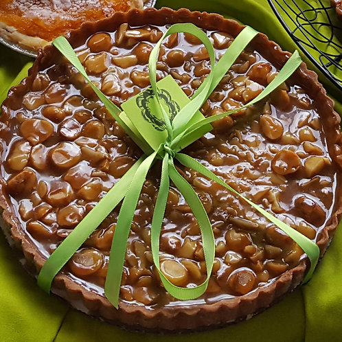 9'' Honey Caramel Macadamia Nut Tart