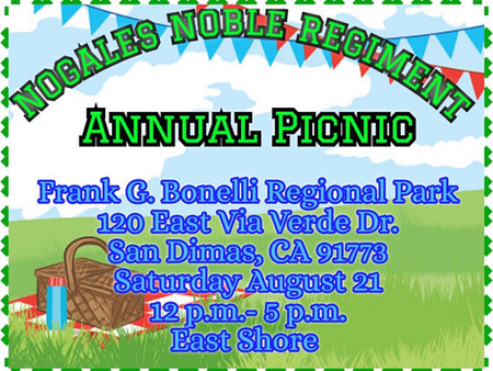 2021 Nogales Noble Regiment Picnic **DATE CHANGED**