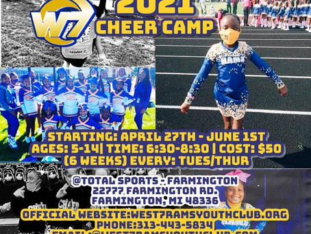 Online Cheer Camp Payments