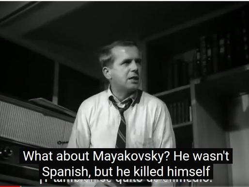 Mayakovsky reviewed in Jacques Rivette's 'Paris belongs to us'.