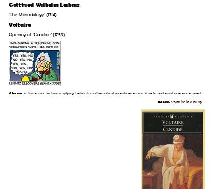 Armchair Philosophy 17 Leibniz x Voltaire