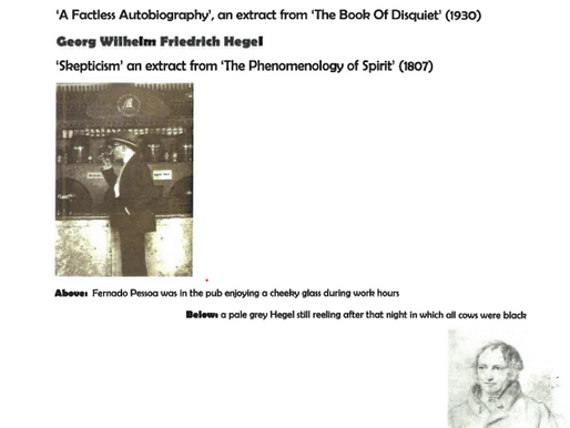 Armchair Philosophy 12 Pessoa x Hegel