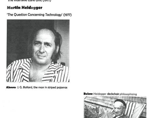 Armchair Philosophy 19 Ballard x Heidegger
